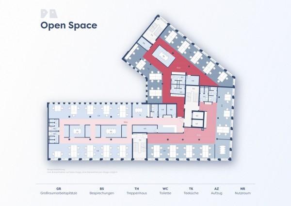 Beispielgrundriss Open Space