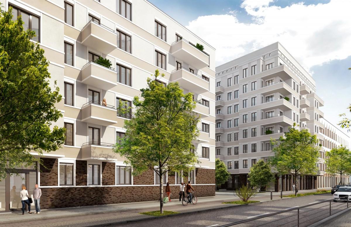 Blick Wohngebäude Prager RiebECK